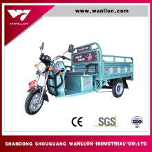 Fabricante de triciclo elétrico de carga de caminhão de 650W na China