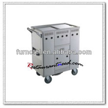 S101 Gas Stainless Steel Kitchen Trolley Rice Noodles Roll Cart