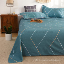 Home Textile Bed Sheet Set High Quality Comfortable Fade Cadet Blue Double Bed Linen