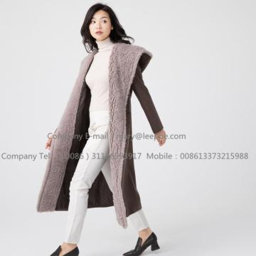 Women Water Wavy Cashmere Overcoat