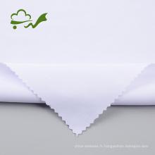 Lot de stock de tissu de plongée en polyester blanc javellisant 75D