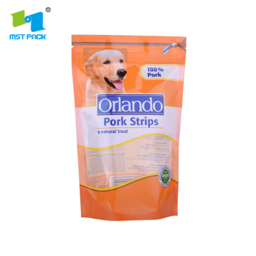 Berdiri Seal Pouch dengan Ziplock Pet Food Packaging Plastic Bag Pouch
