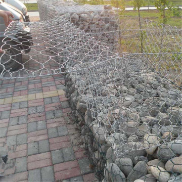 Hex Gabion Rock Cage Wall