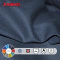 Gran venta al por mayor algodón azul marino a prueba de fuego tela para la ropa