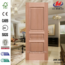 JHK-M03 Embossing Press Office Living Hot Sale Arabie Saoudite Sapeli Three Panel Door Panel
