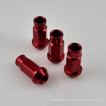 4PCS Alumínio Open End Roda Lug Nut