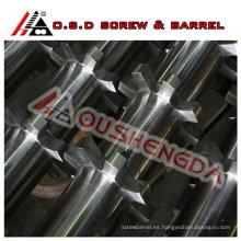 Extrusora de alta velocidad de un solo husillo y barril para extrusión de tubos de PE