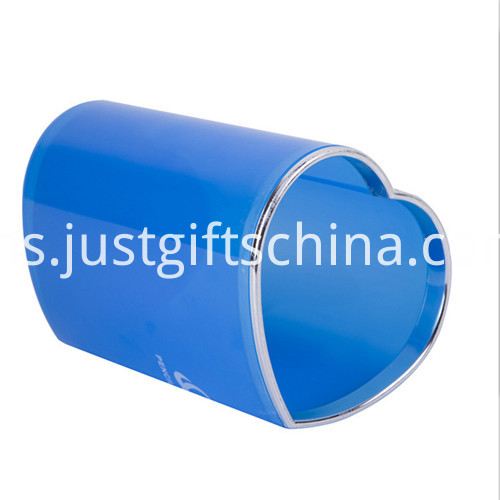 Promotional Logo Heart-shaped Pen Holder Pot 3