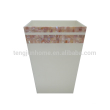 pink mother of pearl shells shell dustbin type