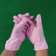 Pink Vinyl Gloves beauty salon