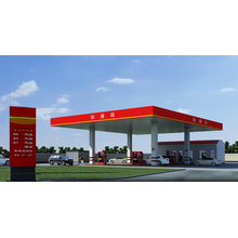 Modern Steel Space Frame Roofing of Gas Station