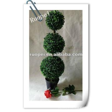 Usine artificielle de boule d'herbe topiaire