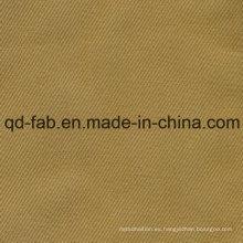 100% tela de sarga de algodón orgánico (QDFAB-8643)