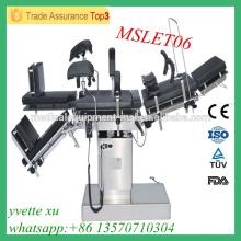 MSLET06M Fabrication en Chine Table d'exploitation bon marché Prix de la table d'opération électrique