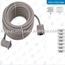 90 градусов VGA-кабель между мужчинами и женщинами, правый переходный порт для 15-контактного TV-кабеля