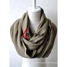 Acrylic Knitted Shawl (12-BR201812-4)