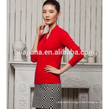 fashion stand collar women's Chinese red sweater
