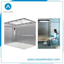Elevador do hospital, elevador do passageiro para transportar a cama médica