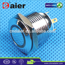 Interruptor de botón a prueba de agua del interruptor de botón de 16 mm Daier