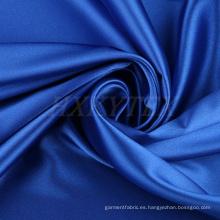 Seda con tejido de satén de poliéster de alta elasticidad para prendas de abrigo
