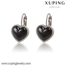 91782 Clip de pendiente de joyería en forma de corazón elegante de moda de cerámica