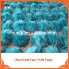 Large size real fur pom poms