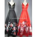 Mikado V Neck Ball Gown Robe de bal