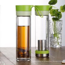 Großhandel transparent auslaufsicher Wasserflasche mit Filter