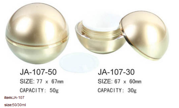 Cosmetic Bottle Acrylic Round Ball Cream Jar JA-107