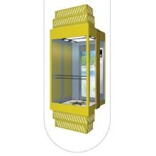 Tipo cuadrado Ascensor de pasajeros panorámico con cabina de vidrio