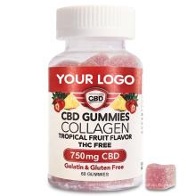 Organic  Hemp CBD Hydrolyzed Collagen Hair Vitamins Gummy with Biotin  Immune Support for Women and Men