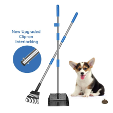 Set Dulang dan Rake Pet Poop Long Handle