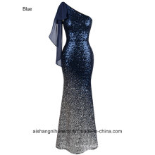 Angel Fashion Long Evening Dress Vintage Sequins Mermaid Prom Dress