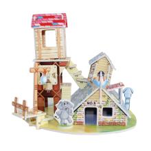 3D животных дом головоломки