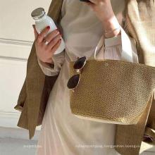 2021 Low MOQ Vintage Ladies Spring Straw Handbags Beach Handbag for Women