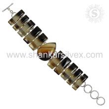 Neue spektakuläre Onyx Edelstein Armband 925 Sterling Silber Schmuck Handgefertigte Schmuck