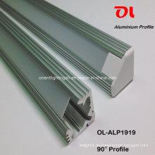 Seitenemittierendes LED-Profil aus eloxiertem Aluminium (ALP1919)