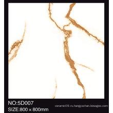 Струйная полированная глазурованная белая мраморная плитка для пола Керамическая плитка