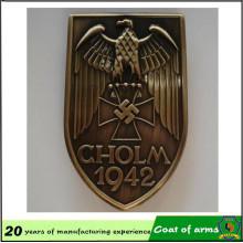 Escudo de metal modificado para requisitos particulares plateado latón antiguo del metal