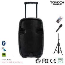 Portable PA Trolley Lautsprecherbox mit Batterie und 2 VHF