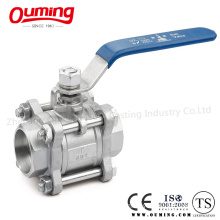 3PC Stainless Steel Thread End Floating Ball Valve