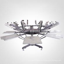 руководство по эксплуатации 8 цвет 8 станция майка карусель шелкография принтер с микро регистрации для продажи