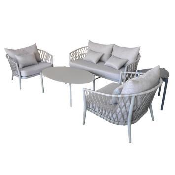 Classic European style outdoor rope sofa set
