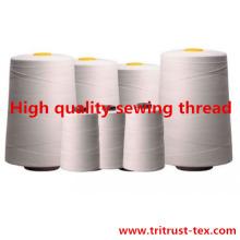 Fil de polyester filé pour fil à coudre