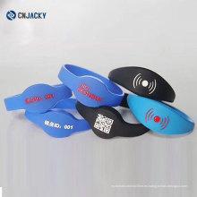 Pulsera impermeable colorida de los deportes / pulsera antiestática del silicón / pulsera de goma del RFID