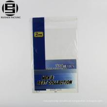 Costume impresso fácil abrir saco adesivo bopp para roupa interior dos homens