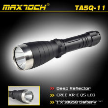 Maxtoch TA5Q-11 18650 diseño nuevo linterna de LED de gama larga Reflector profundo