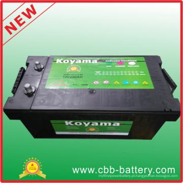 Bateria de inicialização de carro portátil Mf 12V200ah de segurança extra, bateria de carro grátis para manutenção N200, bateria recarregável
