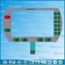 Interrupteur à membrane flexible en PET plat avec des dômes métalliques