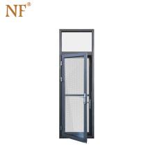 Double glazed spanish aluminum interior security door